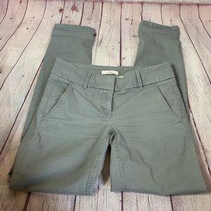 J. Crew Light Green Cotton Spandex Blend Pants
